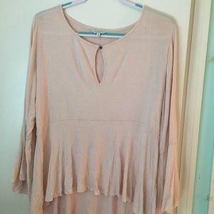 Lucky Brand light pink blouse